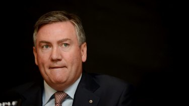 A remorseful Eddie McGuire at the time of his on-air Adam Goodes gaffe in 2013.