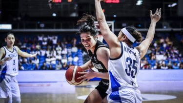 New Zealand's Penina Davidson in action against Korea.