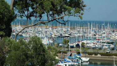 Manly Boat Harbour where the boat hit the rock wall and ran aground on Sunday night. (File image)