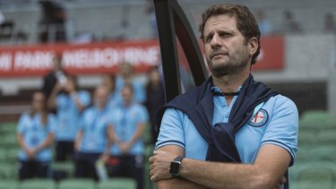Recruitment target: Former Melbourne City women's coach, Joe Montemurro, now at Arsenal, has been linked with the Matildas job.