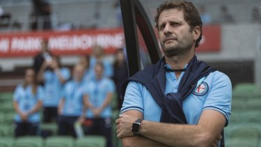 Former Melbourne City women's coach, Joe Montemurro, now at Arsenal, is linked with the Matildas job . November 8, 2017.