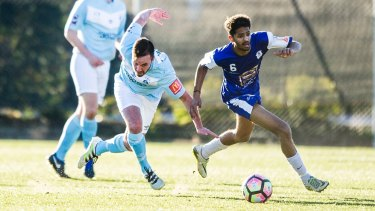 Gungahlin United have signed Jeremy Habtemariam (right) from Canberra Olympic.