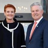 Pauline Hanson dan Colin Tincknell.