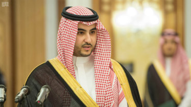 Saudi Prince and deputy defence minister Khalid bin Salman,brother of Mohammed bin Salman.