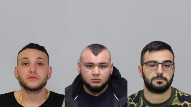(L-R) 27-Abdullah El Nasher, Ali El Nasher and Mikhael Myko have been charged over the Kensington fight night shooting.