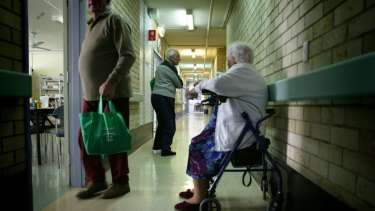 The numbers of young people moving into nursing homes is increasing.