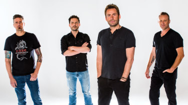 Nickelback left the dodgy haircuts back in the 2000s.