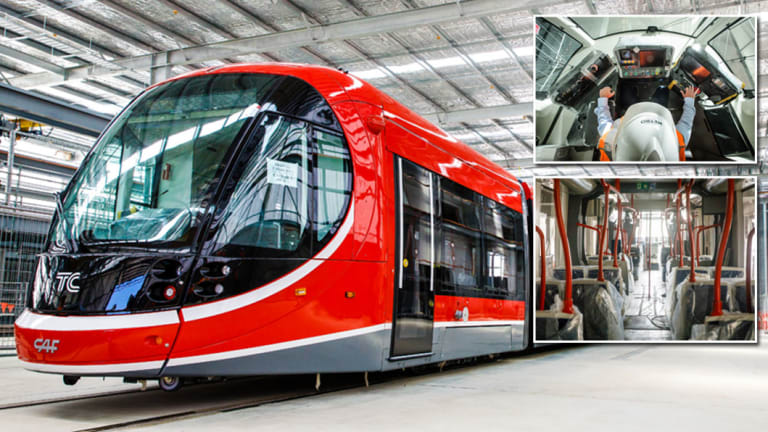 One of Canberra's new trams.