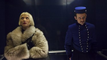 Mia Wasikowska as Jackie in the film <i>Piercing</i>.