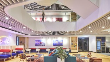 WeWork's offices are designed for the digital worker, like this one at 161 Castlereagh Street, Sydney.