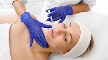 The high water-binding capacity of hyaluronic acid and increases the skin's elasticity.