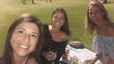 Cecilia Haddad with friends Rita Maciel and Carolina Camara.