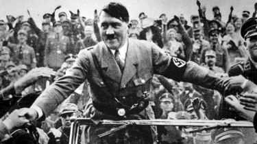 Adolf Hitler in Nuremberg in 1933, the year that Jews such as Walter Mankiewicz were told that their jobs were being terminated.