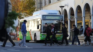 ACTION buses at the Civic Interchange: a holiday timetable will run in the Christmas and New Year period.