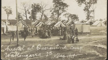 Arrival at quarantine camp in Wallangara.