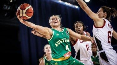 Shyla Heal impressed for Australia at under-17 level recently.