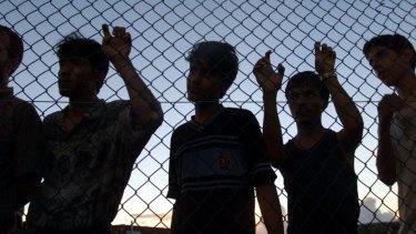 Asylum seekers in Nauru.