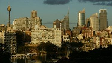 Sydney's city skyline.