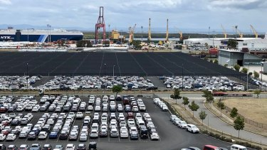 The port hosts 250,000 cars a year.