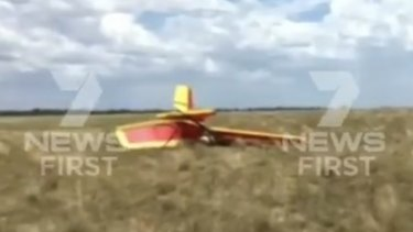 The ultralight came down in a paddock near the Gregory Highway.