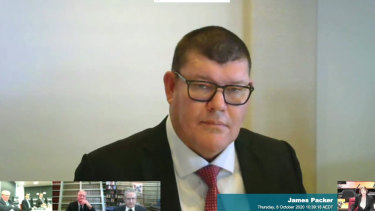 James Packer gave evidence to the inquiry last month.