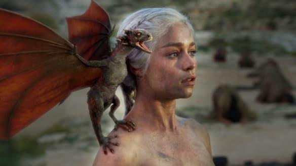 Emilia Clarke's fitting Game of Thrones tribute