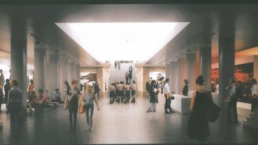 An artist's impression of a new orientation gallery at the Australian War Memorial.
