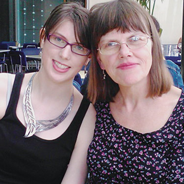 Anna with her mother, Mary, on her mother's birthday in 2012.