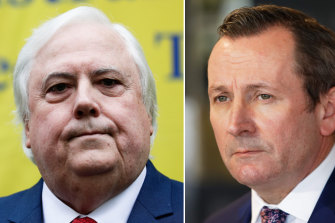 Mark McGowan says the public should be unhappy with the taxpayer money spent intervening on Clive Palmer's High Court challenge of the state's border restrictions.