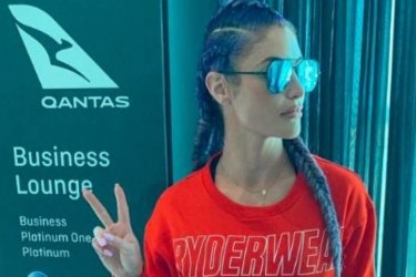 Natalie Eva Marie refused access to Qantas lounge over activewear outfit