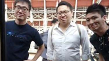 Simon Cheng, left, has detailed his torture at the hands of China's secret police.