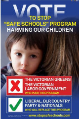 Right-wing minor party Rise Up Australia is targeting Labor and the Greens over Safe Schools.