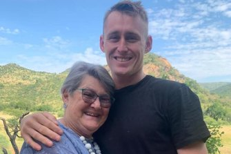 Marnus Labuschagne and grandmother Ansie.