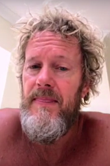 Craig McLachlan looking dishevelled in one of his video diary entries.
