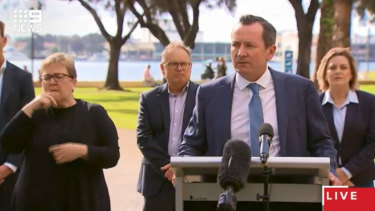 The Premier said other states were still seeing instances of community spread and clusters of cases and he would not expose to Western Australia.