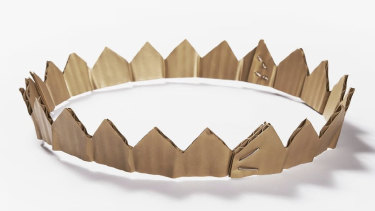 "David Bielander's $15,000 ""Cardboard Crown"" is made from silver and gold."