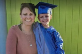 Jess West and son Deighton.