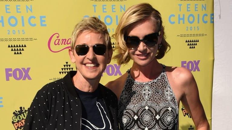 Portia de Rossi, right, pictured with her wife Ellen DeGeneres.