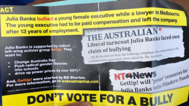 Rather than referring to claims of bullying, the Advance Australia flyer asserted the events occurred.