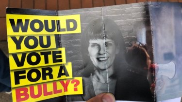 The Advance Australia brochure cites untested claims that Julia Banks bullied a young female colleague in her office before she entered Parliament.