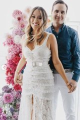 Lou and Nikolai pictured at their Capri-themed engagement party in January.