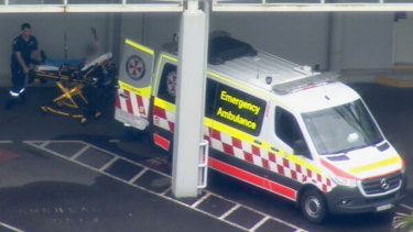 The teenager was taken to The Children's Hospital at Westmead with back and arm wounds.