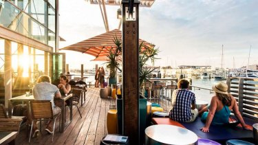 The Breakwater Hotel at Hillarys Boat Harbour was one of several venues with limited patronage this week.