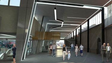 Artists' impression of Brisbane Central station's $65 million upgrade.