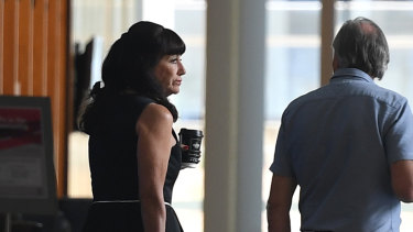 Theresa Dalton is seen in the Supreme Court in Brisbane on Monday.