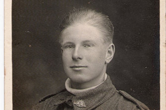 Douglas Wood, of Hawthorn, believed to have been 14 years old when he signed up.