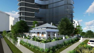 The proposed development in Lambert Street, Kangaroo Point, incorporates the heritage building.