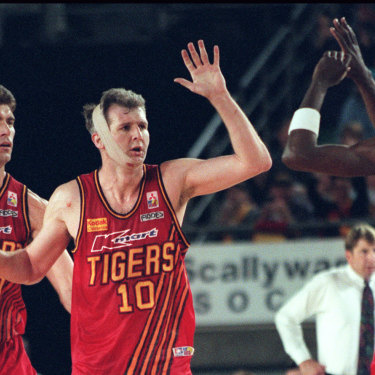 The NBA's popularity helped fuel the profile of domestic stars like Melbourne's Mark Bradke, Andrew Gaze and Lanard Copeland.