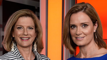 Ellen Fanning and Julia Baird present the ABC's weeknightly news and current affairs show The Drum.