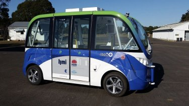 A trial of an automated shuttle bus has been under way at Sydney Olympic Park since late 2017.
